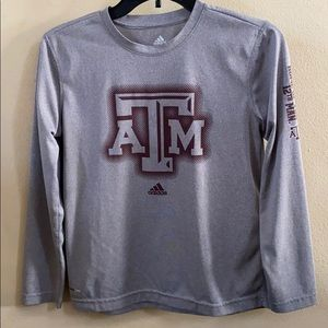 Adidas Texas A&M TAMU Aggie Long Sleeve Shirt